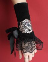 Floral filigree watch cuff by Pinkabsinthe