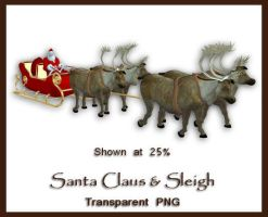 Santa and Sleigh by shd-stock