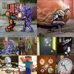 Pixel Art and Costumes collage by ChozoBoy
