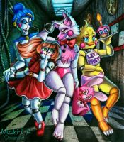 Five Nights at Ladies / FNaF by Mizuki-T-A