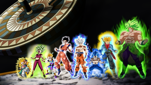 Tournament of Power Team Saiyan Powered Up by obsolete00