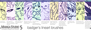 Lineart brushes - badger version by IoneIy