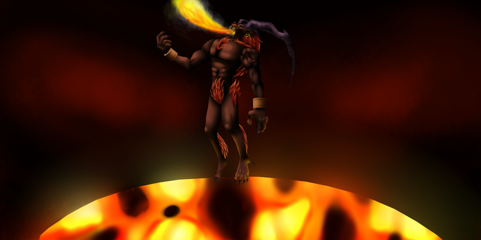 Ifrit Final Fantasy VIII by VenomDesenhos