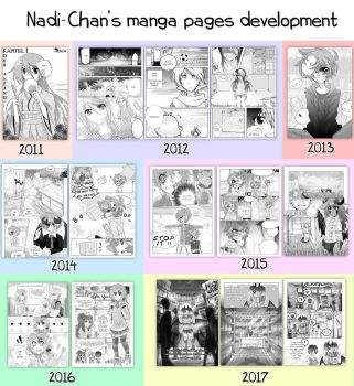 Nadi-Chan's manga pages development (2011-2017) by Nadi-Chan