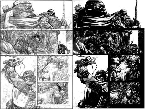 TMNT page 6 pencils and inks by Spacefriend-KRUNK
