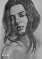 Black and white girl by tman2009