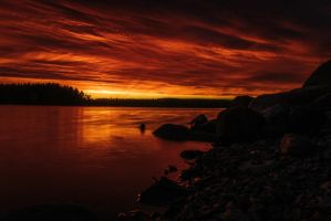 Burning sky II by mabuli