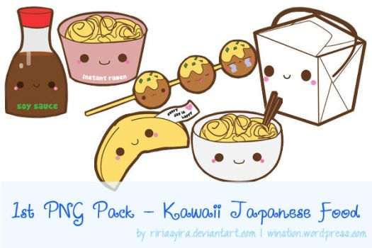1st PNG Pack - Kawaii Japanese Food by RiriAsyra