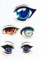 manga eyes by RiviAnne