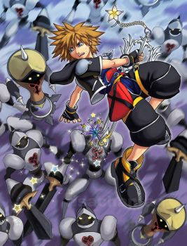 KH2 Showdown at Hollow Bastion by Risachantag