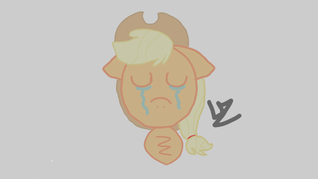 MLP Drawing 'A bad day' by BrownieXPandaFluff