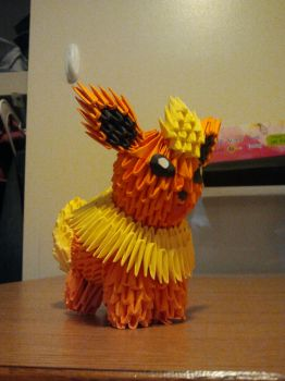 3D Origami Flareon by pokegami