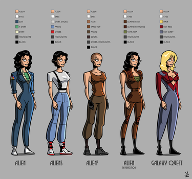 Ripley paper doll by inkjava