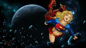 Supergirl Wallpaper And Asteroids by Curtdawg53