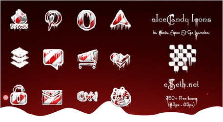 eIceCandy Icon Pack for Apex, Nova, Go Launcher by gseth
