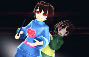 [MMD x UNDERTALE] You Filled With Determination by KanadeMori