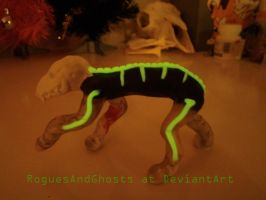 Skull Dog glows in the dark! by RoguesAndGhosts