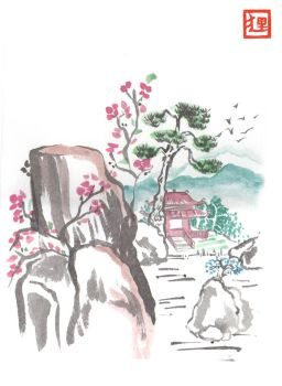 Chinese Landscape by vrlovecats