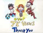 Thank you for over 7000 views by emilyk949