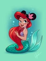 Mickey Ears - Ariel by DylanBonner