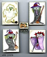 Halloween characters by WoolSocks
