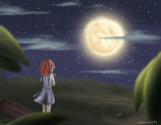 To the Moon: Waiting by DaChocolatte