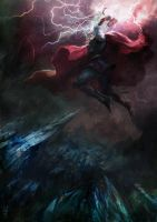 Thor fight in Valhalla by agathexu