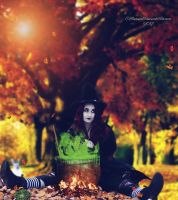 The Autumn Witch by cherie-stenson