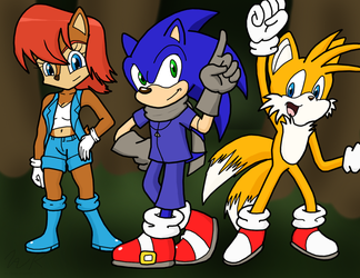 (comm) Sonic, Sally, and Tails by sonigoku