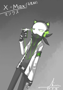 Max with Cat headphone by regluarshow220