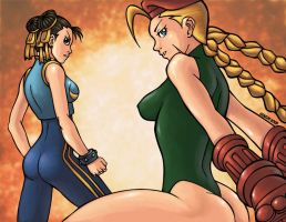 Chun Li and Cammy by GONZZO