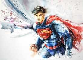 Speed Painting - Superman by Abstractmusiq
