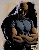 Luke Cage commission doodle by RougeDK