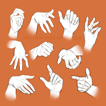 Life study: Hands by Spectrum-VII