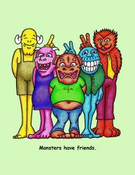 Rammer, Pinky, Lumpy, Zog and Howl by MonstersUnbound