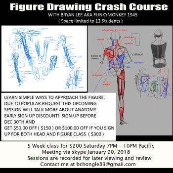 Figure drawing class flyer by FUNKYMONKEY1945