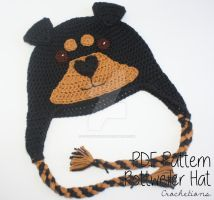 Rottweiler Dog Breed Hat - Crochet Pattern