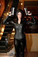 Selene with two guns by wstoneburner