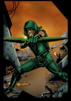 Green Arrow Colors by likwidlead