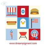 4th of July Icons 2018 by DreamPigment
