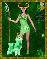 Loki and Llama Happy St. Patrick's Day by Loki-Icon
