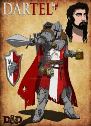 Dartel the Human Paladin by SethEyles
