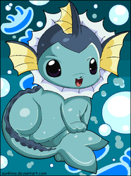 I Am Vaporeon by aunRina