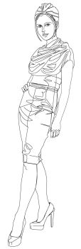 [STOCK] Female-figure-standing-002 by nexus35