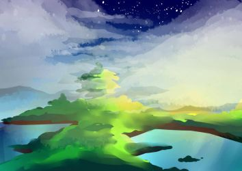 First Attempt to bg painting @n@ by Dangaso