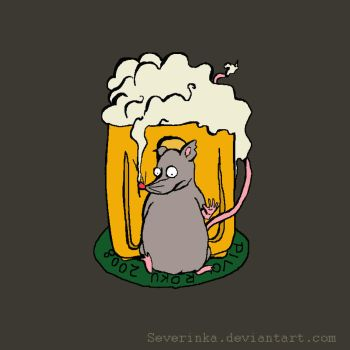 Beer Mouse by Severinka