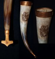 Viking drinkinghorn by DarkSunTattoo