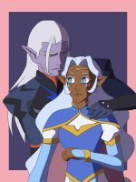 Prince Lotor and Princess Allura by halo91