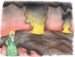 Genesis 19:27-29 (Abraham Beholds Sodom) by Parastos