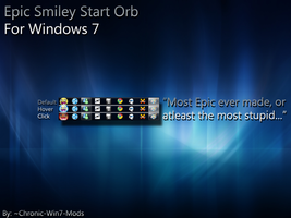Epic Smiley Start Orb - Win 7 by Chronic-Win7-Mods